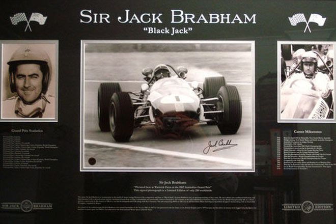 Framed Print - Limited Edition Sir Jack Brabham Signed Print (No. 239/250)