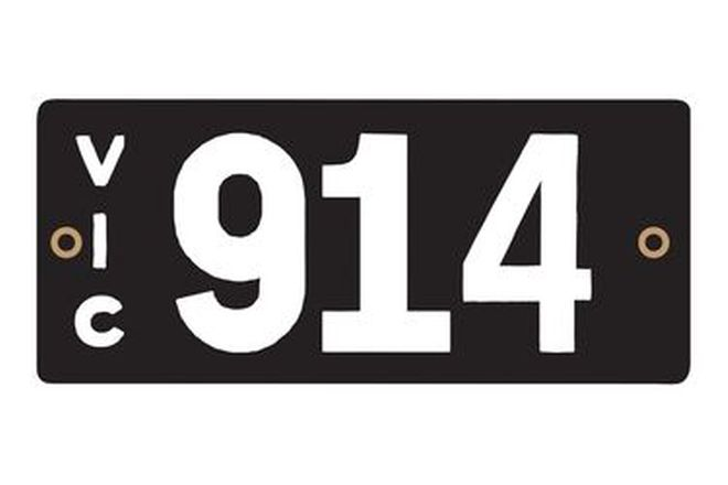 Victorian Heritage Numerical Number Plates - '914'