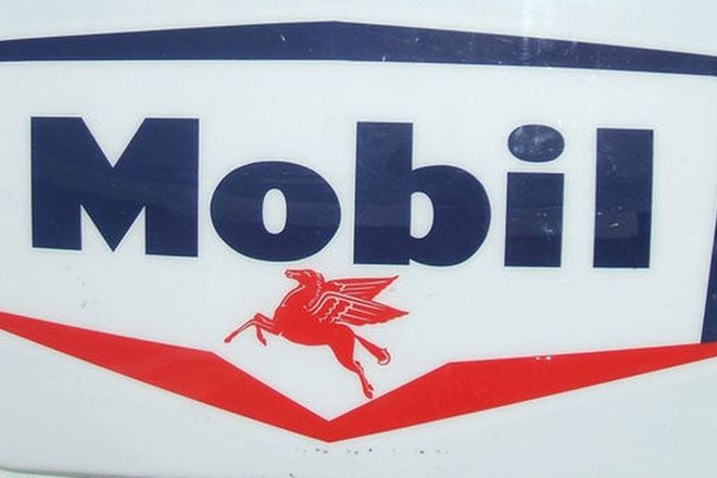 Sign - c1960s Mobil Moulded Acrylic (170cm x 120cm)