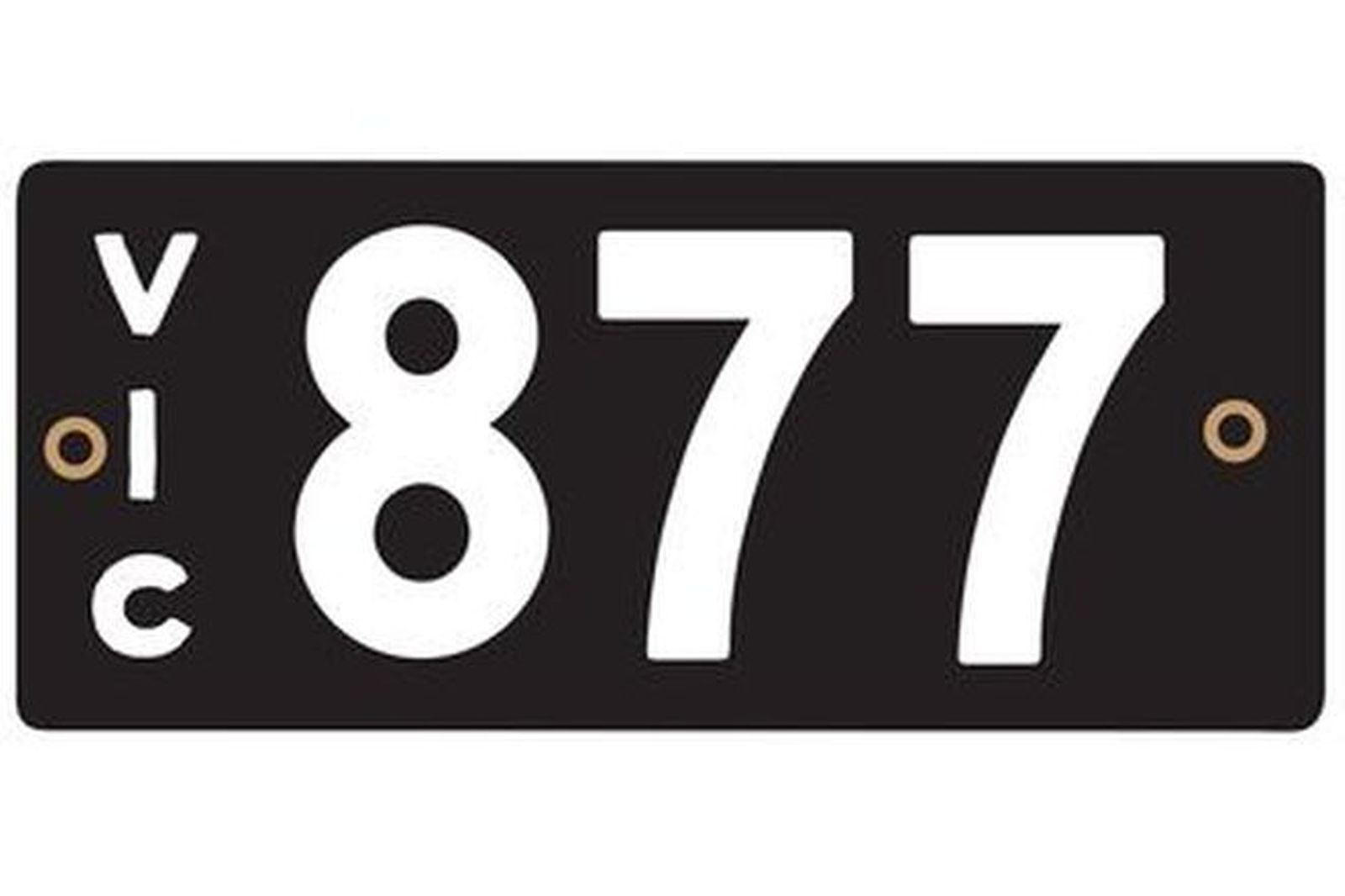 Victorian Heritage Number Plates '877'