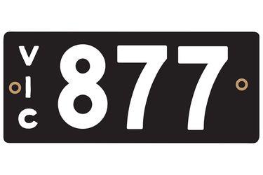 Victorian Heritage Number Plates '877'