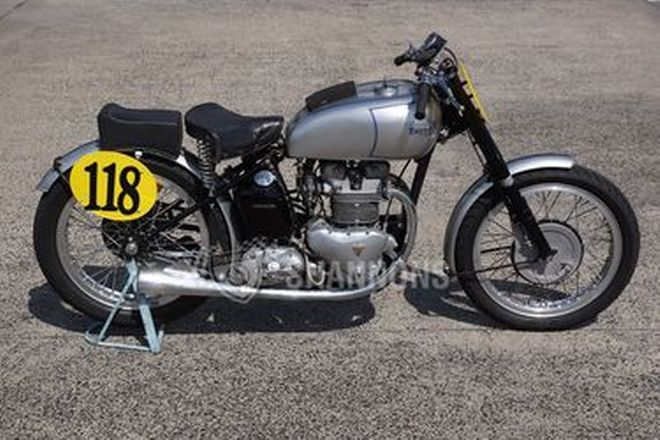 Triumph 500cc Grand Prix Replica Solo Motorcycle