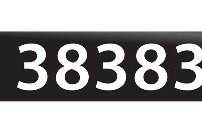 RTA NSW Numerical Number Plates '38383'