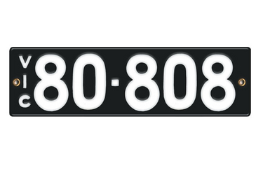 Victorian Vitreous Enamel Number Plates - '80.808'