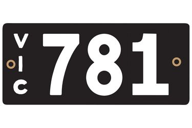 Victorian Heritage Plate '781'