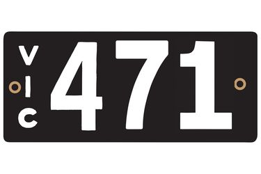 Victorian Heritage Plate '471'