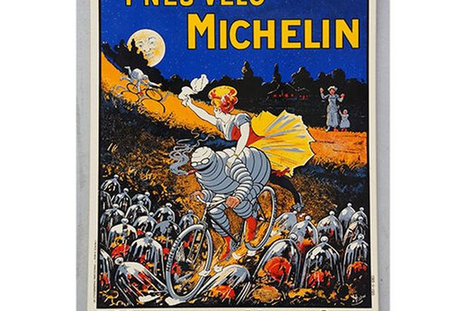 Enamel Sign - Michelin Pneu Vélo Sign - 80x60cm (Reproduction)