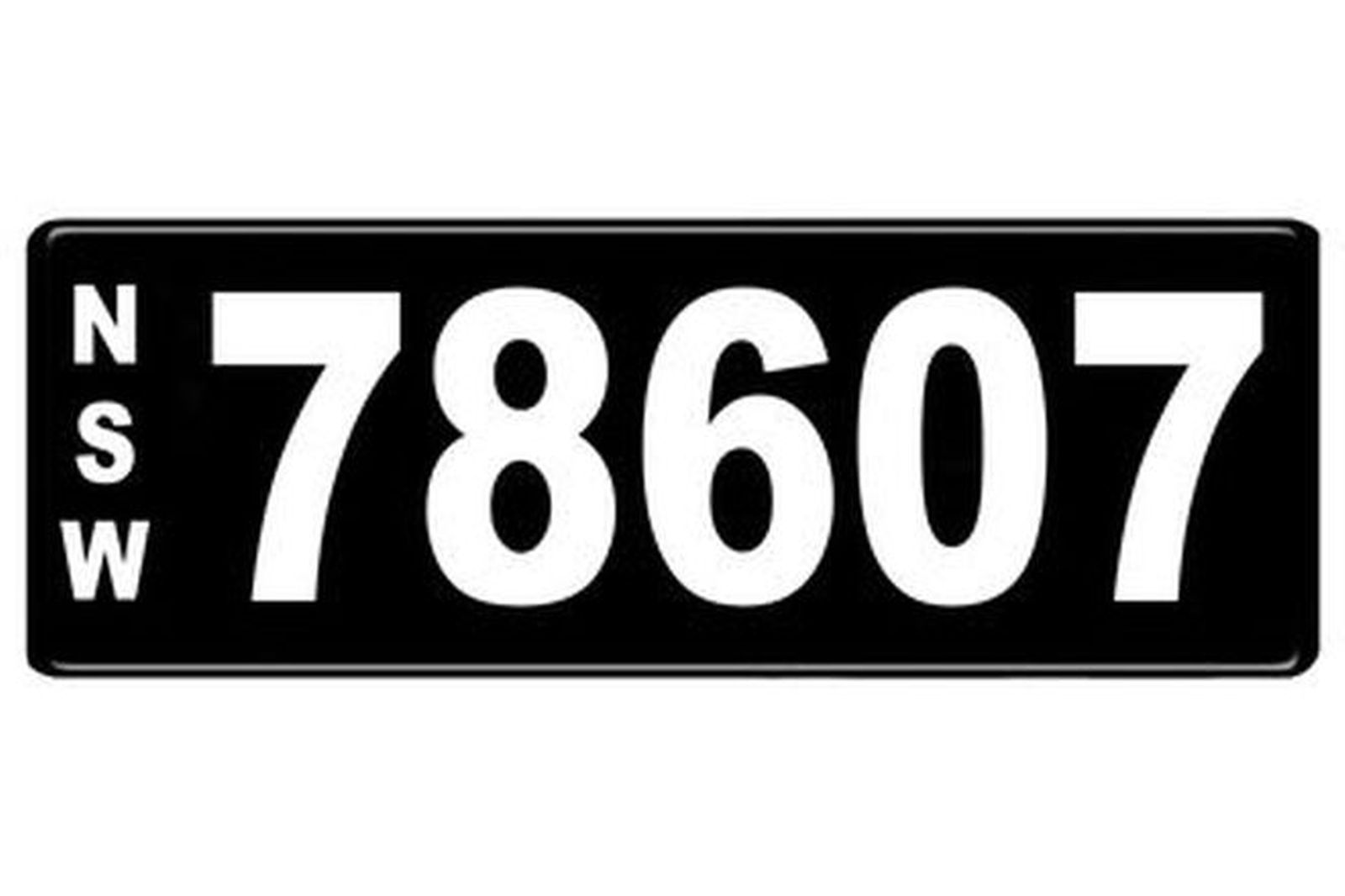 Number Plates - NSW Numerical Number Plates '78607'