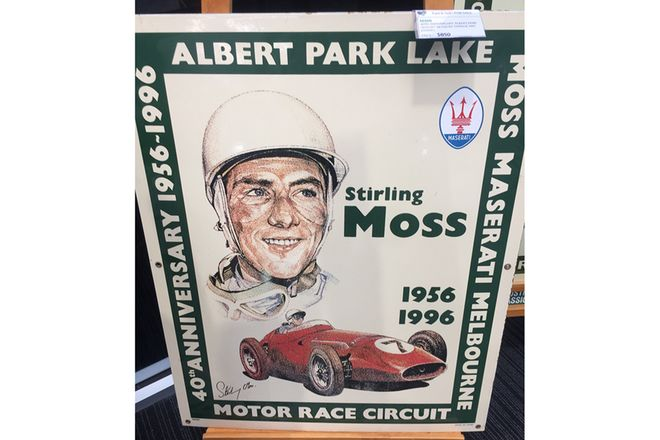 40th Anniversary Albert Park Enamel Sign  No 98 / 100 by garage art enamel
