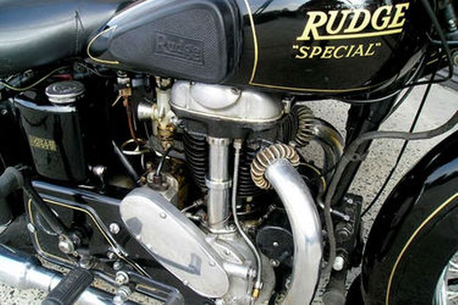 Rudge 'Special' Motorcycle with Dusting Sidecar