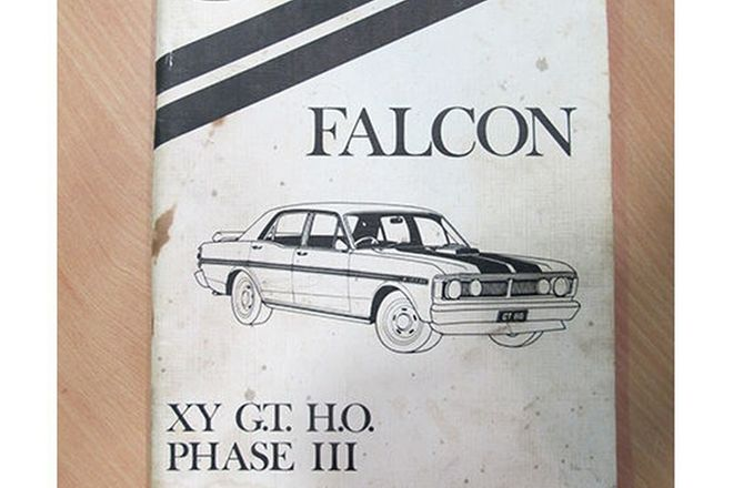 Book - Ford Falcon XY GTHO Phase III Manual (Ford Part no. WH-12) (Reproduction)