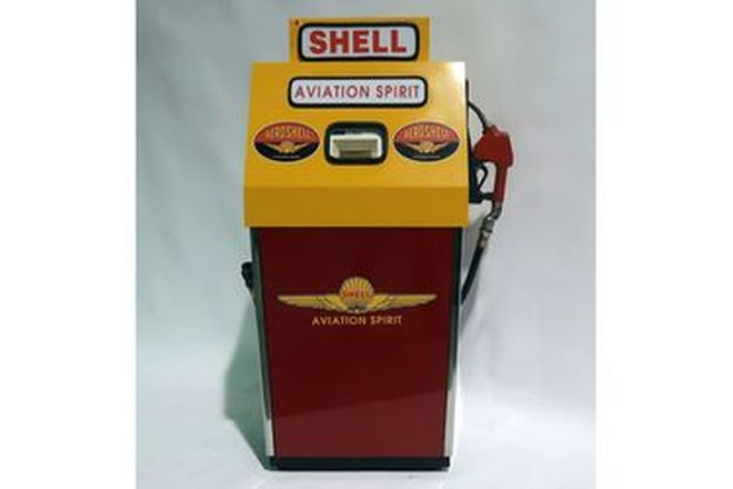 Petrol Pump - Email Electric in Shell Avation Spirit Livery (Cosmetically Restored)