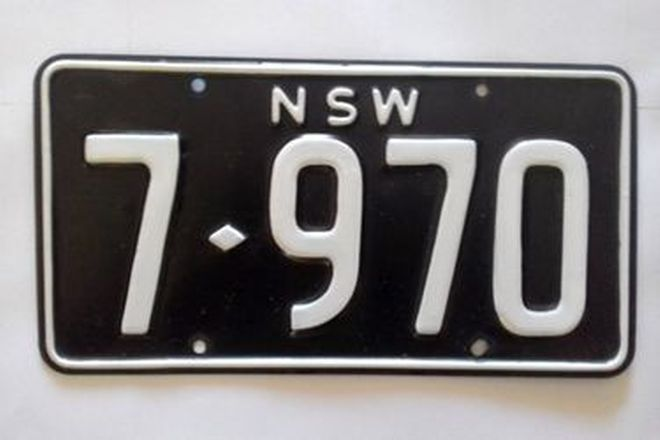 Number Plates - NSW Numerical Number Plates '7970'
