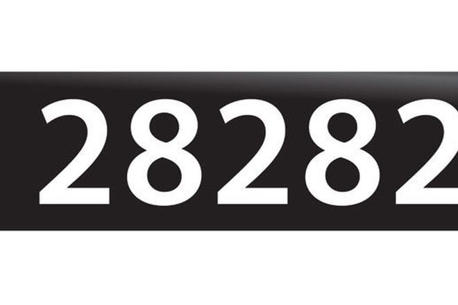 RTA NSW Numerical Number Plates '28282'