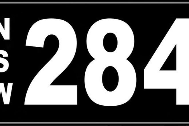 Number Plates - NSW Numerical Number Plates '284'