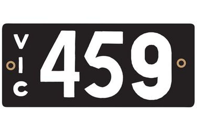 Number Plates - Victorian Numerical Number Plates '459'