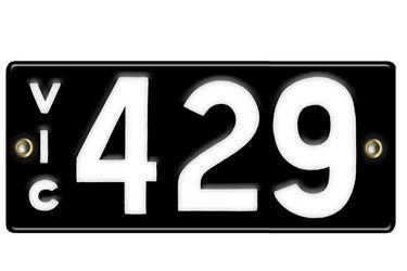 Victorian Vitreous Enamel Number Plate -  '429'