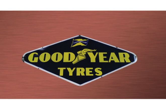 Enamel Sign - Goodyear Tyres (3' x 4')