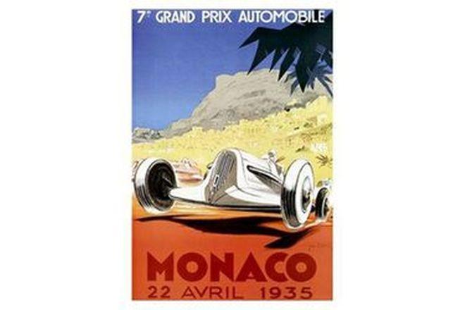 Framed print - Monaco 1935
