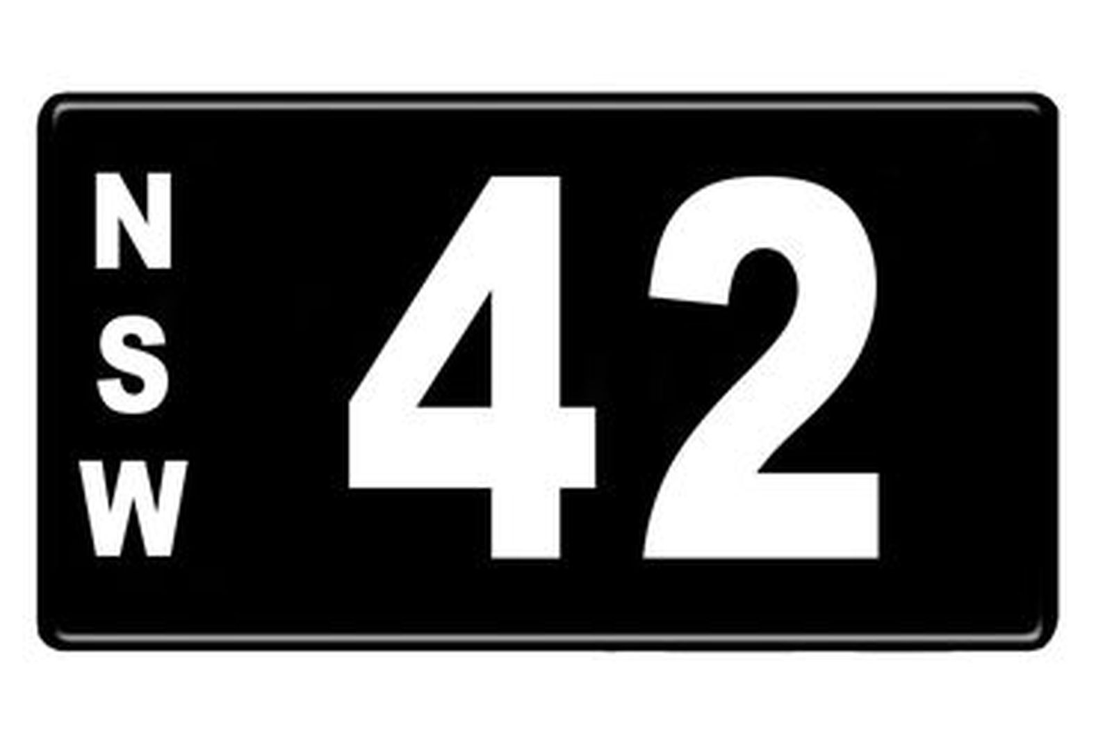 Number Plates - NSW Numerical Number Plates '42'