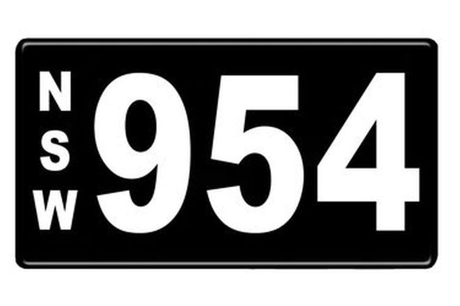 Number Plates - NSW Numerical Number Plates '954'