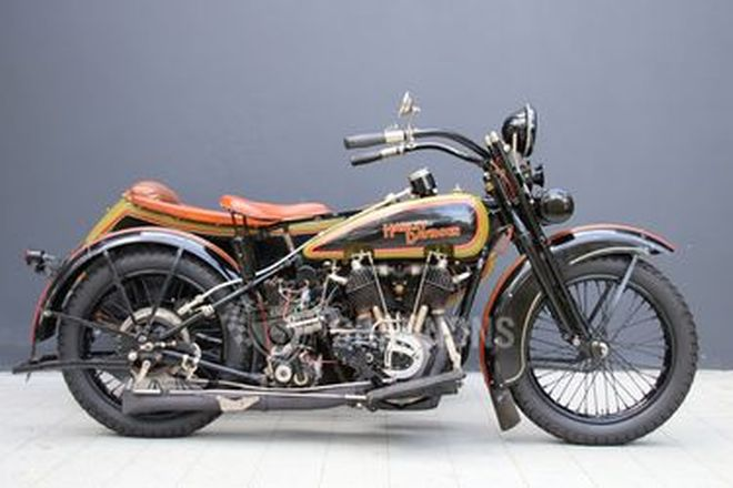 Harley-Davidson Model JD 1200cc Motorcycle with Sidecar