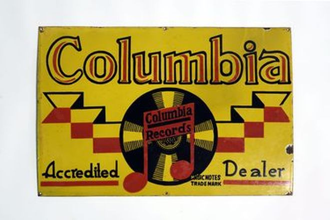 Enamel Sign - Columbia Records (76 x 51cm)