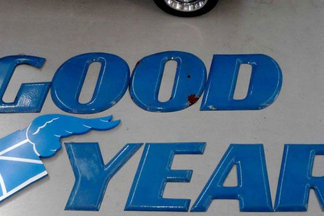 Enamel Sign- Goodyear 7 metres long, individual letters (600mm high)