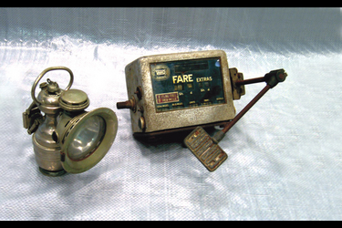 1x P&H Nickel Carbide Motorcycle Lamp, 1x 1950's