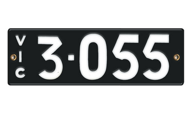 Victorian Vitreous Enamel Number Plates - '3.055'