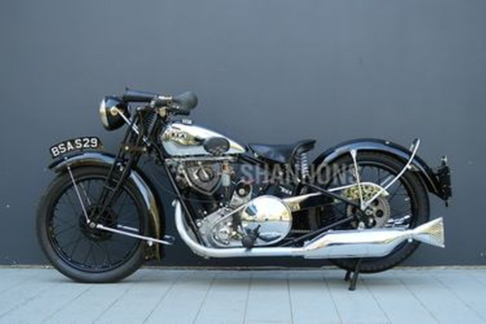 BSA S-29 500cc 'Sloper' Motorcycle
