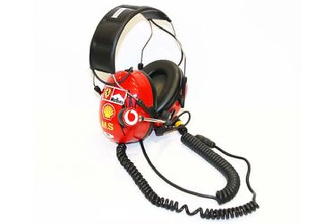 Headset - c2001 Worn by Michael Schumacher, Signed by Michael & Team Boss Jean Todt