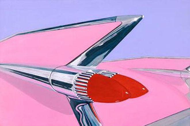 Paintings by Terry Lawrie - 3 x Classic 1950s American Cars (60cm  x 90cm)