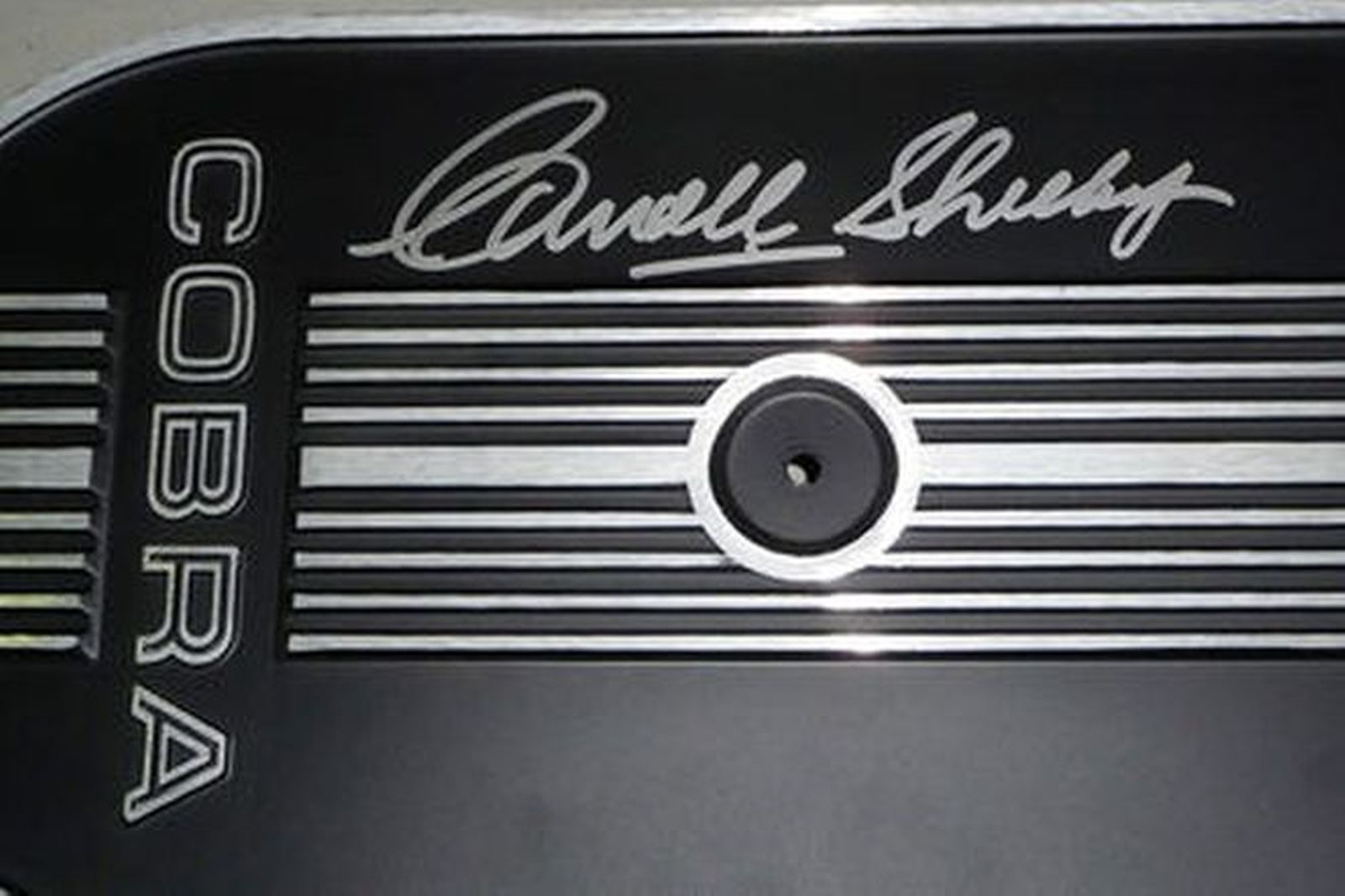 Air Filter - Air Filter assembly signed by Carroll Shelby