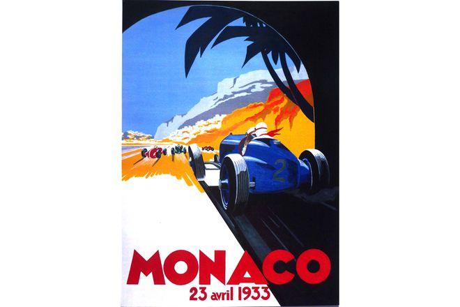 Quality Prints framed - Monaco 23 Avril 1933