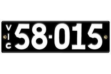 Victorian Vitreous Enamel Number Plate - '58.015'