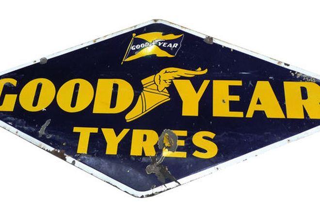 Enamel Sign - Good-Year Tyres 'Diamond shaped' (2.4 x 1.2m)