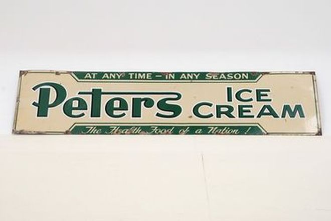 Enamel Sign - Peter's Ice Cream Sign - Single sided Original (183 x 45cm)