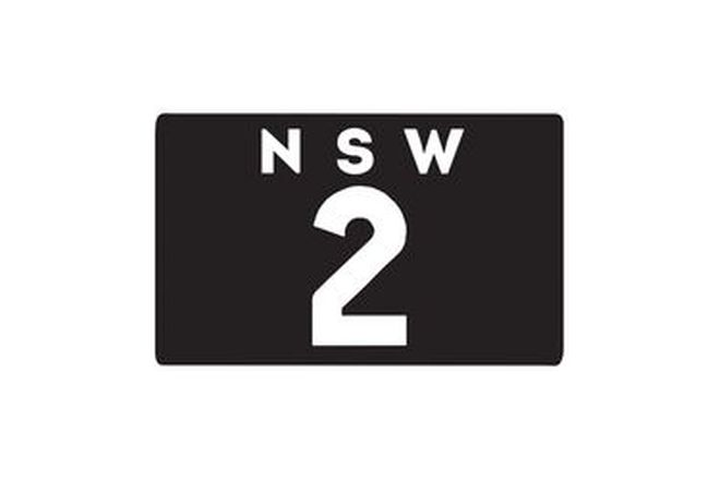 Number Plates - NSW Motorcycle Numerical Number Plates '2'