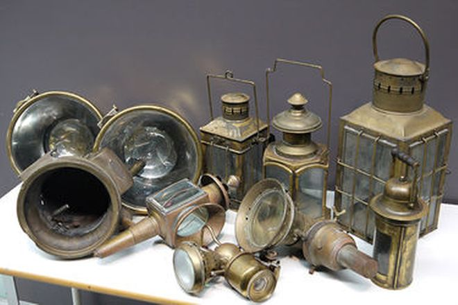 Brass Lamps - Collection of Various Brass Lamps