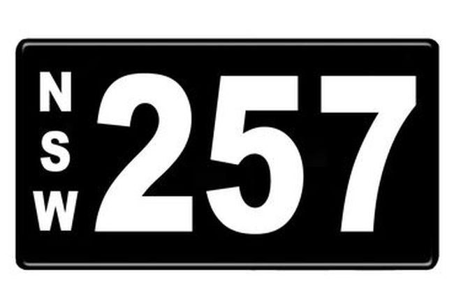 NSW Numerical Number Plate '257'