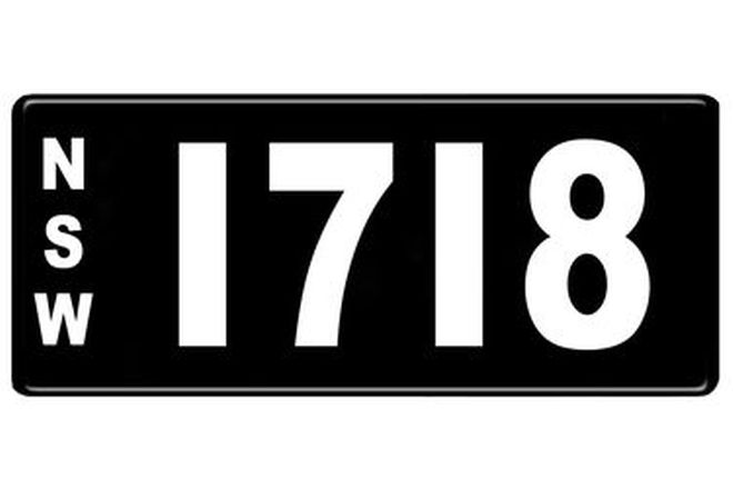 Number Plates - NSW Numerical Number Plates '1718'