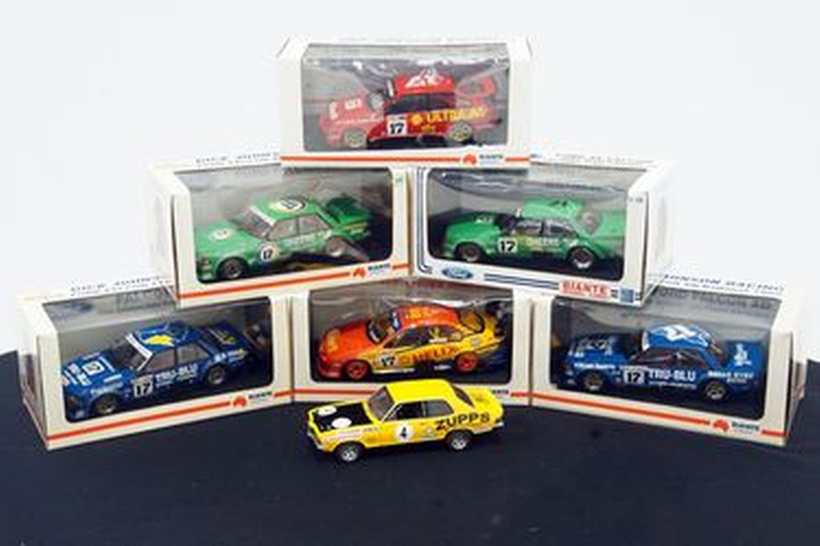 Model Cars - 7 x Dick Johnson Collection Biante (Auto Art) Boxed with Certificates 1:18 Scale