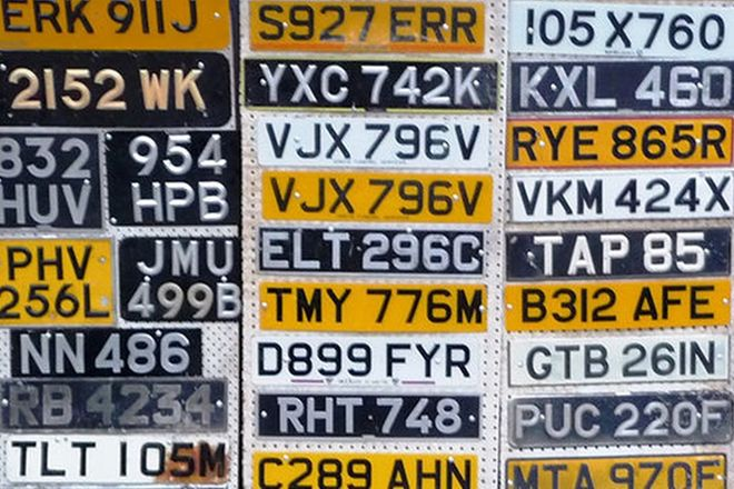 Number Plates - 30 x Various English Number Plates