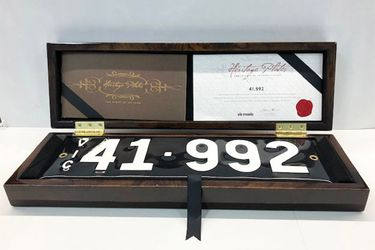 Victorian Heritage Numerical Number Plate '41.992'