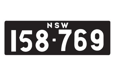 NSW Heritage Numerical Number Plates '158-769'