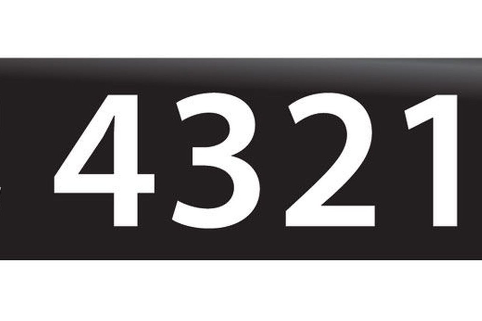 RTA NSW Numerical Number Plates '4321'