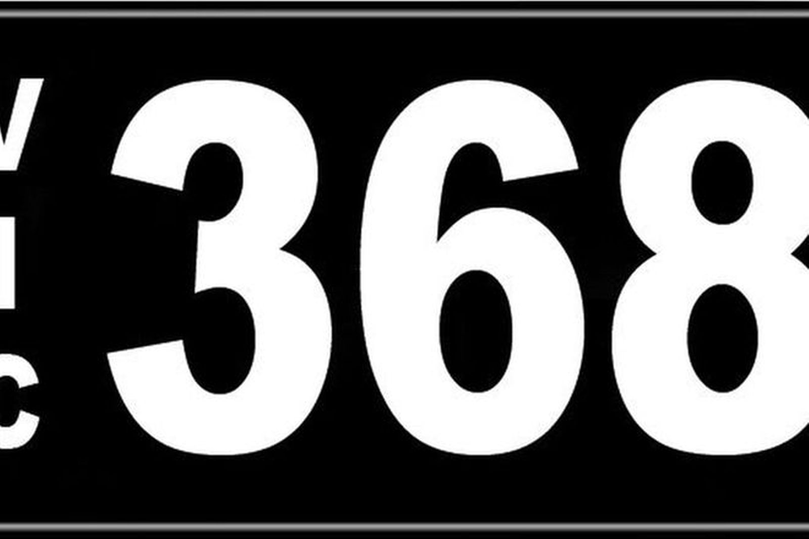 Number Plates - Victorian Numerical Number Plates - '368'