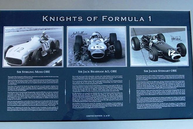 Framed Signed Photos - Knights of Formula 1