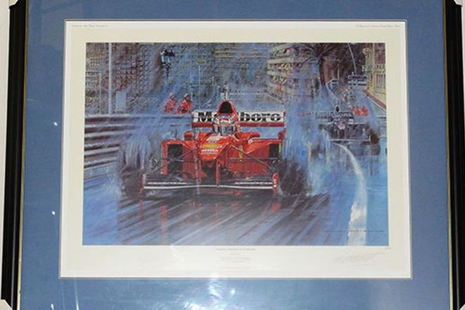 Signed Framed Print - 'Schumacher Reigns Supreme' by Nicholas Watts (No. 8/500)